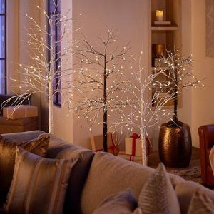 6' Birch Tree with Lights